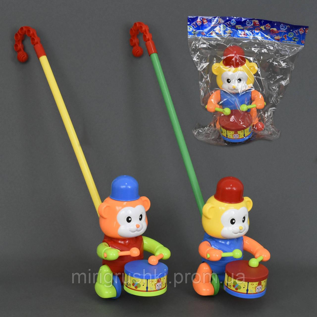 """Каталка """"Мишка"""" на палочке, 2 цвета, в кульке"""