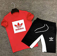 Мужской летний спортивный костюм Адидас   Оригинальный летний спортивный костюм с шортами, фото 1