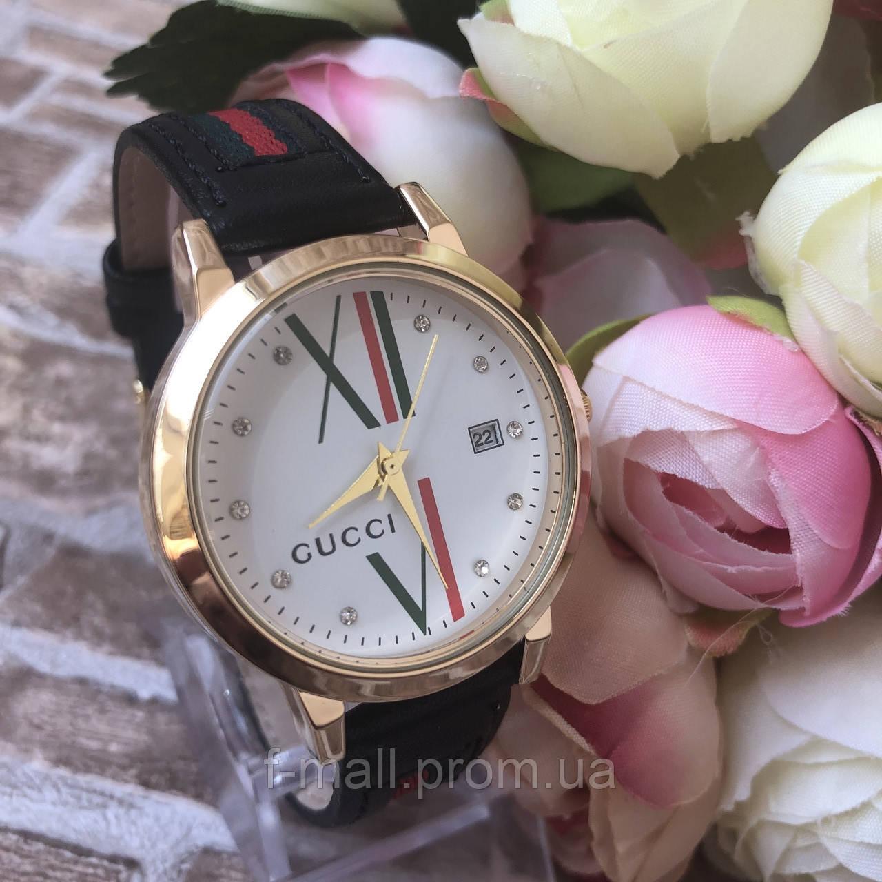 Женские наручные часы  Gucci (реплика) черные
