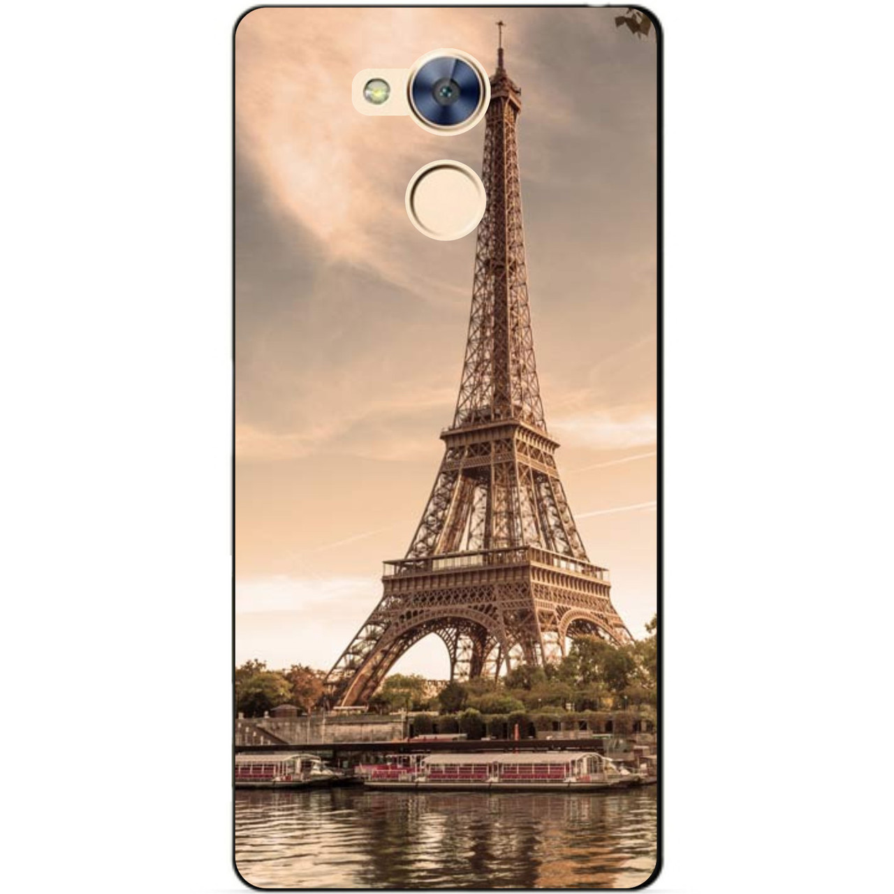 Силиконовый бампер чехол для Huawei Honor 6a с рисунком Париж