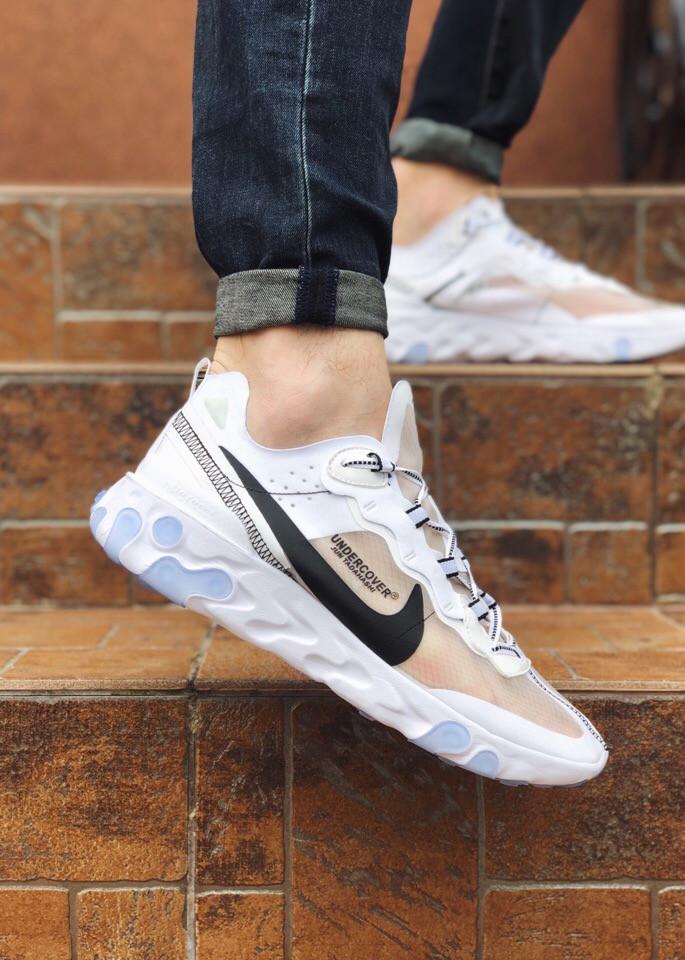 Кроссовки мужские  Nike текстильные спортивные практичные светлые  удобные найки,  ТОП-реплика