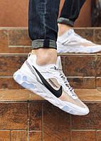 Кроссовки мужские  Nike текстильные спортивные практичные светлые  удобные найки,  ТОП-реплика, фото 1