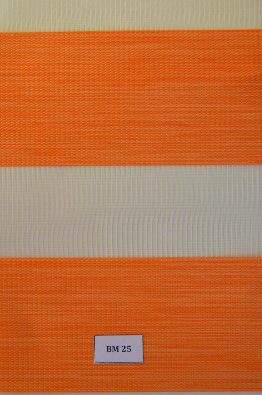 Рулонные шторы день-ночь оранж ВМ-25