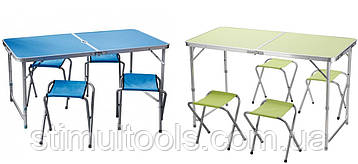 Стіл + 4 стільця складаний валізу для пікніка