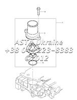 Разъем насоса воды, двигатель 1104C-44Т, RG38101 Г1-13-1