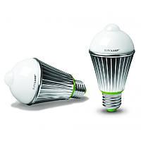 Лампа LED А60 8W + датчик движения 360'