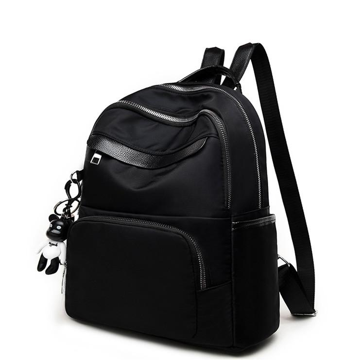 076654726055 Городской рюкзак женский. Модные рюкзаки. Черный, синий и бежевый цвет.