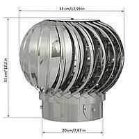 Турбодефлектор вентиляционный из нержавеющей стали 200 (Тд-02-1)