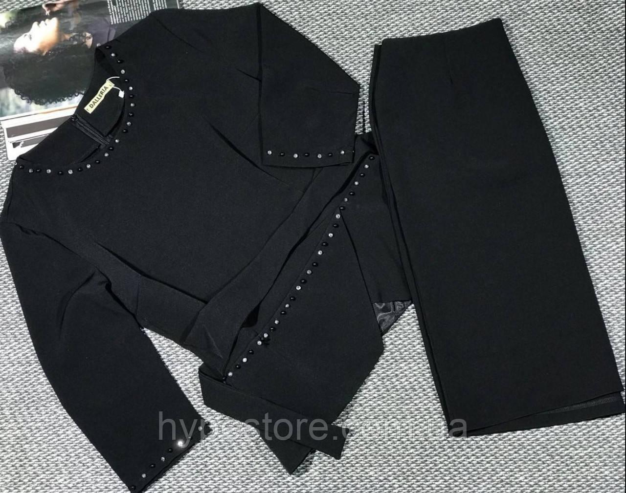 Оригинальный женский костюм-двойка черного цвета,см.замеры в описании!!!)