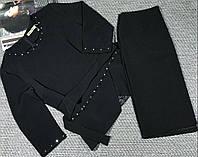 Оригинальный женский костюм-двойка черного цвета,см.замеры в описании!!!), фото 1