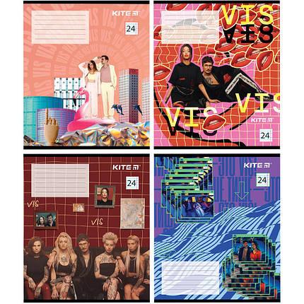Тетрадь школьная Kite Время и Стекло VIS19-239, 24 листа, в линию, набор 4 шт, фото 2