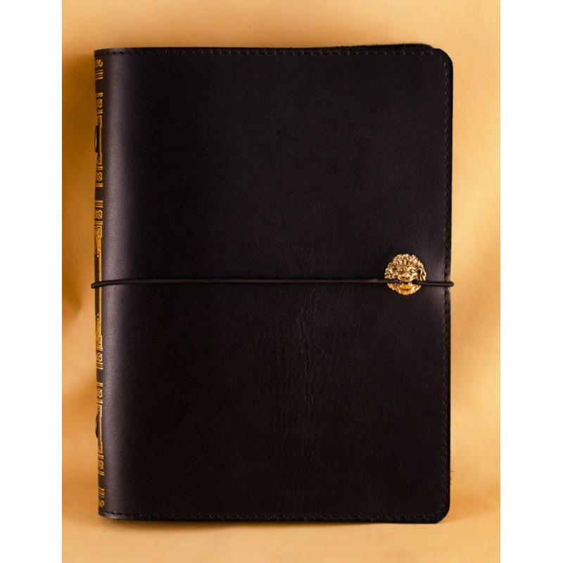 """Ежедневник (портфолио) А5 формата в кожаной обложке на резинке """"Маршал"""""""