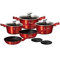 Набор посуды 10 предметов BERLINGER HAUS BURGUNDY Edition BH-1222