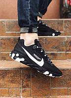 Кроссовки мужские Nike на лето практичные  удобные найки каждодневные на шнуровке черные,  ТОП-реплика, фото 1