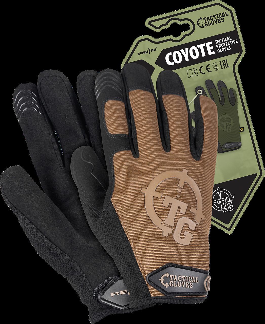 Перчатки RTC-COYOTE COY рабочие выполнены из пряжи и синтетической кожи. REIS Польша
