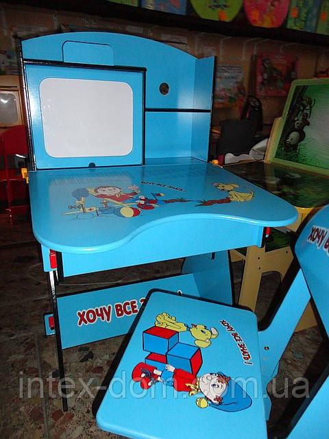 Парта детская+стул W055 A, растишка-трансформер. киев