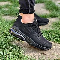 Кроссовки мужские Nike текстильные весенние практичные спортивные найки на шнуровке черные,  ТОП-реплика, фото 1