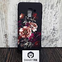 Чехол с рисунком для Samsung A530 (A8) 2018 Дикие цветы