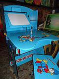 Парта детская+стул W055 A, растишка-трансформер. киев, фото 6