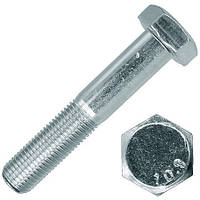 Болт высокопрочный с цинковым покрытием М10 DIN 931 (ГОСТ 7805-70) класс прочности 10.9