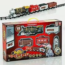 Железная дорога 3054 (38521) паровоз на р/у, свет, звук, в коробке