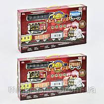 Железная дорога 3056-3057 (55117) свет, звук, дым, 14 деталей, 2 вида, на батарейке, в коробке