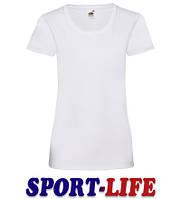 Женская футболка оптом FRUIT OF THE LOOM VALUEWEIGHT T Белая