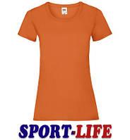 Женская футболка оптом FRUIT OF THE LOOM VALUEWEIGHT T Оранжевая
