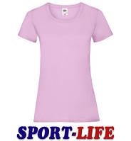 Женская футболка под печать и принт FRUIT OF THE LOOM VALUEWEIGHT T Светло-розовая, фото 1