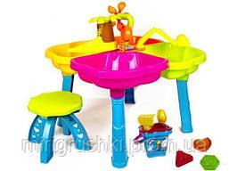 Песочный столик с ведром и пасками, стульчик KinderWay KW-01-121