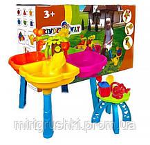 Песочный столик с лейкой, набором, стульчик KinderWay KW-01-121-1