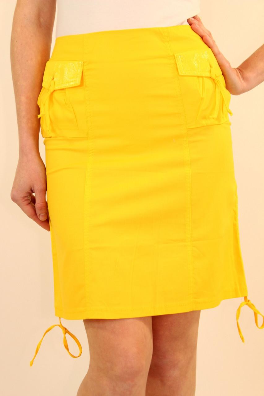 Летняя женская юбка 42-48 р ( желтый, зеленый )