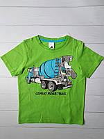 Зеленая футболка для мальчика с машиной C&A Германия Размер 110