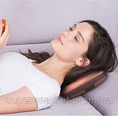 Массажер MASSAGE PILLOW, массажная роликовая подушка Шиацу с подогревом, фото 3