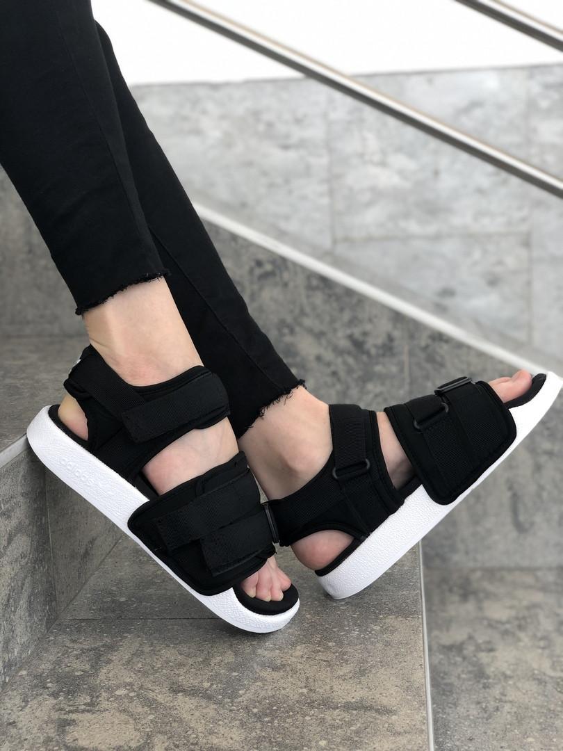 Сандали женские спортивные Adidas Sandal .Босоножки Adidas черного цвета. ТОП КАЧЕСТВО !!! Реплика класса люкс