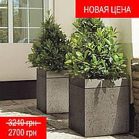 """Вазон для цветов из бетона (бетонный) для сада и террасы """"Куба"""""""