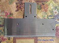 Нож зубчатый 190х132х1,5 мм для отсечки полотна с самоклеющимися материалами