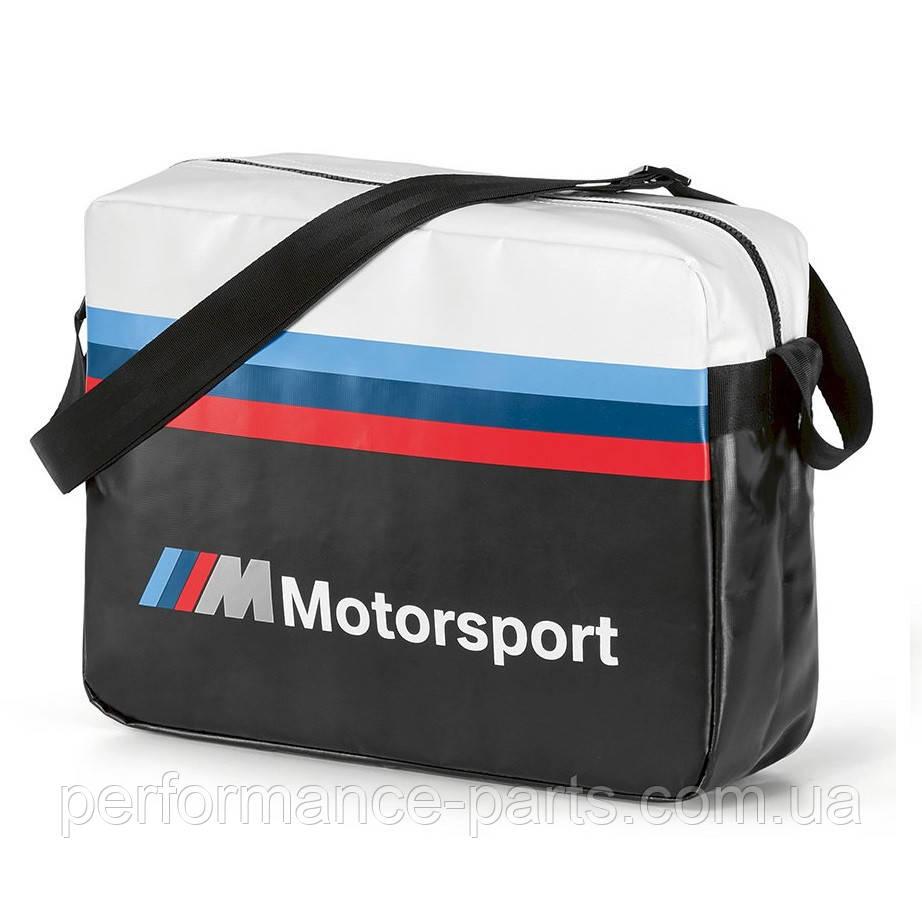 Сумка-мессенжери BMW M Motorsport Messenger Bag, Black / White артикул 80222461144