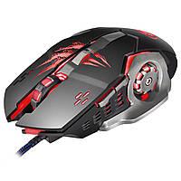 ☇ Мышь компьютерная Apedra A8 Black USB для Пк dpi 1200-1600-2400-3200 Desktop игровая проводная 6 кнопок