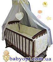Постельное бельё в детскую кроватку  жакард  6 элементов