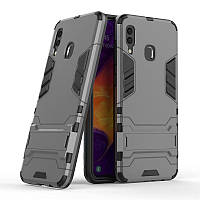 Чехол для Samsung Galaxy A30 2019 / A305 Hybrid Armored Case темно-серый
