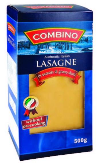 Макаронные изделия Combino Lasagne пластины для лазаньи 500 г