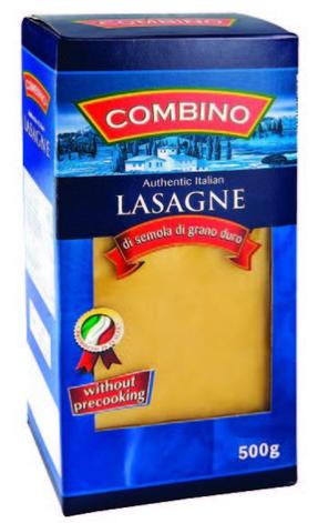 Макаронные изделия Combino Lasagne пластины для лазаньи 500 г, фото 2