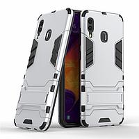 Чехол для Samsung Galaxy A30 2019 / A305 Hybrid Armored Case светло-серый