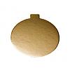 Подложка круглая золотая, h-1 мм Ø 8 см для порционных десертов