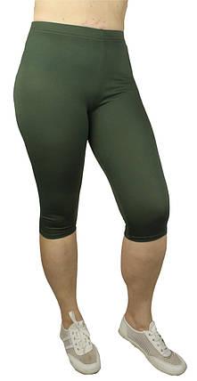 Капрі classic БАТАЛ віскоза зелений № 304-5, фото 2