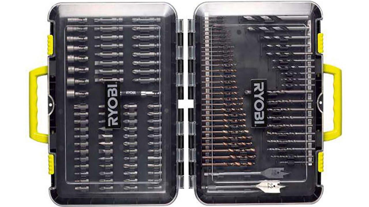 Набор RYOBI RAK125DDF (свёрла, биты, держатель)