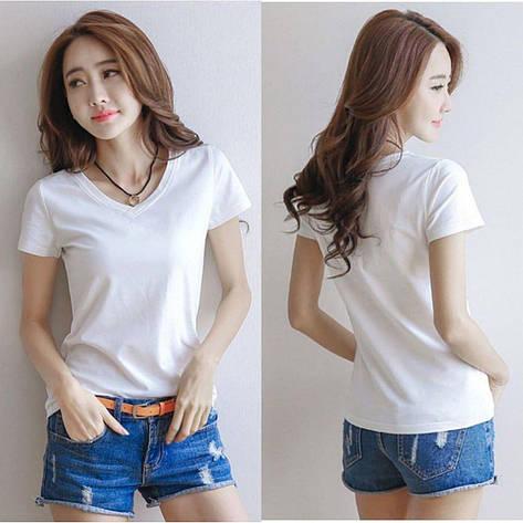 Женская футболка Фабричный Китай Белый, Единый, фото 2