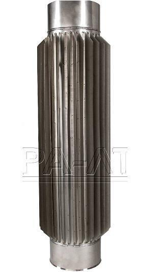 Труба радиатор ф150 1м 1мм 304 для каминов, булерьянов нерж