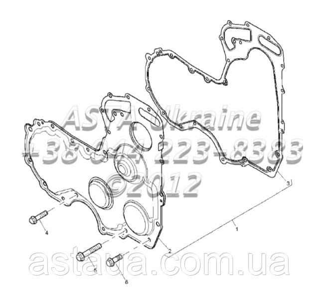 Крышки ГРМ, двигатель 1104C-44Т, RG38101 Г1-17-3